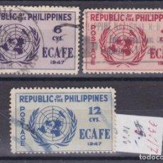 Sellos: FC3-237- FILIPINAS ECAFE YT 335/37 USADOS. Lote 293836758