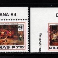 Sellos: FILIPINAS 1399/400** - AÑO 1984 - PINTURA - SEMANA DEL MUSEO. Lote 294462538