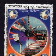 Sellos: FILIPINAS 2493/96** - AÑO 1999 - CENT. DEL MINISTERIO DE TRANSPORTES Y COMUNICACIÓNES. Lote 294462848