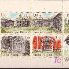Sellos: FINLANDIA CARNET 814*** - AÑO 1979 - ARQUITECTURA FINLANDESA. Lote 23270498