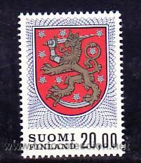 FINLANDIA 787 SIN CHARNELA, ESCUDO NACIONAL (Sellos - Extranjero - Europa - Finlandia)
