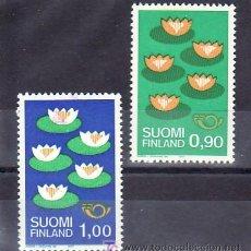 Sellos: FINLANDIA 767A/8A FOSFORO CON CHARNELA, CONVENCION PARA LA PROTECCION DEL DESARROLLO NORDEN 77. Lote 11826816