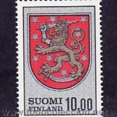 Sellos: FINLANDIA 708 SIN CHARNELA, ESCUDO NACIONAL, . Lote 9769832