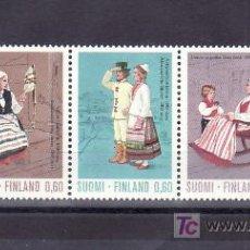 Sellos: FINLANDIA 697/701 CON CHARNELA, TRAJES NACIONALES, . Lote 11737650