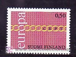 FINLANDIA 654 CON CHARNELA, TEMA EUROPA 1971, (Sellos - Extranjero - Europa - Finlandia)