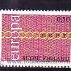 Sellos: FINLANDIA 654 CON CHARNELA, TEMA EUROPA 1971, . Lote 9770631