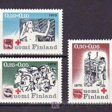 Sellos: FINLANDIA 638/40 SIN CHARNELA, CRUZ ROJA,. Lote 9771178