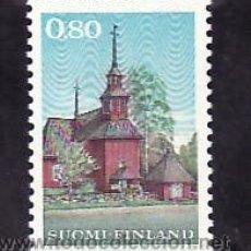 Sellos: FINLANDIA 637 CON CHARNELA, ANTIGUA IGLESIA EN MADERA EN KEURU, . Lote 9771206