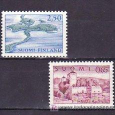 Sellos: FINLANDIA 590/1 SIN CHARNELA, FORLATEZA DE OLAVINLINNA Y PANKAHARJU, . Lote 9784115