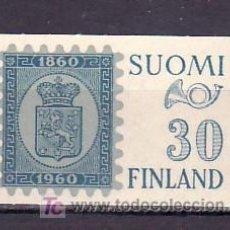Sellos: FINLANDIA 492 SIN CHARNELA, EXPOSICION FILATELICA Y CENTENARIO DEL SELLO, . Lote 11496710