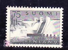 FINLANDIA 485 CON CHARNELA, PRESA DE PYHAKOSKI, (Sellos - Extranjero - Europa - Finlandia)