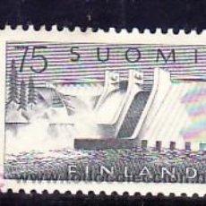 Sellos: FINLANDIA 485 CON CHARNELA, PRESA DE PYHAKOSKI, . Lote 9784443
