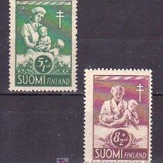 Sellos: FINLANDIA 312/3 SIN CHARNELA, PRO TUBERCULOSOS, PROTECCION DE LA INFANCIA, . Lote 9785217