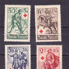 Sellos: FINLANDIA 214/7 CON CHARNELA, CRUZ ROJA, SOLDADOS A TRAVES DE LOS AÑOS,. Lote 220371777