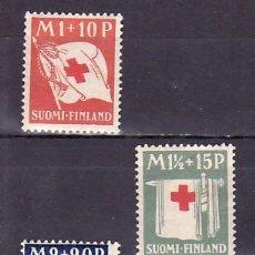 Sellos: FINLANDIA 156/8 CON CHARNELA, CRUZ ROJA, ARQUITECTURA,. Lote 9785520