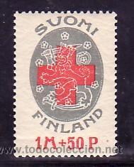 FINLANDIA 108 SIN CHARNELA, CRUZ ROJA, (Sellos - Extranjero - Europa - Finlandia)