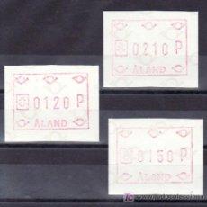 Sellos: FINLANDIA ALAND ETIQUETAS 1 (120, 150 Y 210 P) SIN CHARNELA, . Lote 9761336