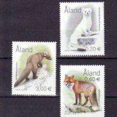 Sellos: FINLANDIA ALAND 229/31 SIN CHARNELA, FAUNA, . Lote 11556303