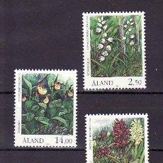 Sellos: FINLANDIA ALAND 33/5 SIN CHARNELA, FLORES, ORQUIDEAS, . Lote 11663009