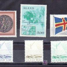 Sellos: FINLANDIA ALAND 1/6 SIN CHARNELA, BARCO, BANDERA, MAPA, ESCUDO, . Lote 11456198