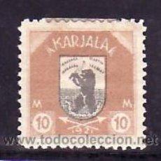 Sellos: FINLANDIA CARELIA 12 CON CHARNELA, ESCUDO, FAUNA, . Lote 10834308