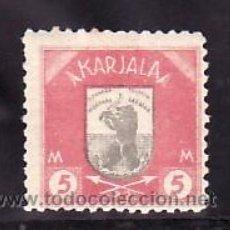 Sellos: FINLANDIA CARELIA 11 CON CHARNELA, ESCUDO, FAUNA, . Lote 10834309
