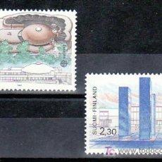 Sellos: FINLANDIA 985/6 SIN CHARNELA, TEMA EUROPA 1987, ARQUITECTURA MODERNA, . Lote 10834310