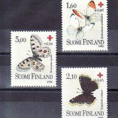 Sellos: FINLANDIA 957/9 SIN CHARNELA, FAUNA, MARIPOSAS, CRUZ ROJA,. Lote 11469951