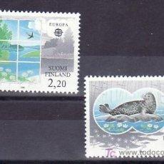 Sellos: FINLANDIA 949/50 SIN CHARNELA, TEMA EUROPA 1986, PROTECCION DE LA NATURALEZA, FAUNA, . Lote 12038871