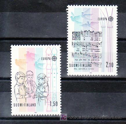 FINLANDIA 932/3 SIN CHARNELA, TEMA EUROPA 1985, AÑO EUROPEO DE LA MUSICA, (Sellos - Extranjero - Europa - Finlandia)