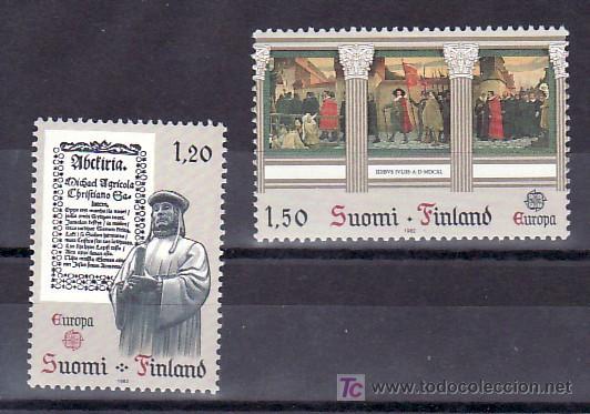 FINLANDIA 865/6 SIN CHARNELA, TEMA EUROPA 1982, HECHOS HISTORICOS, (Sellos - Extranjero - Europa - Finlandia)