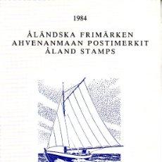 Sellos: FINLANDIA ALAND 1/7 SIN CHARNELA, CARPETA OFICIAL AÑO 1984. Lote 11691576