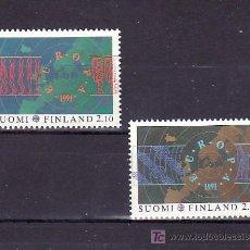 Sellos: FINLANDIA 1110/1 SIN CHARNELA, TEMA EUROPA 1991, MAPA, EUROPA Y EL ESPACIO, . Lote 10865365