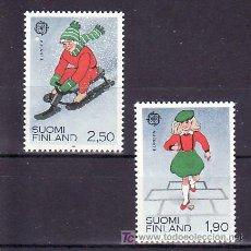 Sellos: FINLANDIA 1042/3 SIN CHARNELA, TEMA EUROPA 1989, JUEGOS INFANTILES, . Lote 11918216