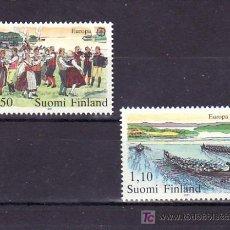 Sellos: FINLANDIA 845/6 SIN CHARNELA, TEMA EUROPA 1981, FOLKLORE, DEPORTE, REMO, MUSICA,. Lote 66227717