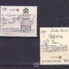 Sellos: FINLANDIA 806/7 SIN CHARNELA, TEMA EUROPA 1979, HISTORIA DEL CORREOS. Lote 10866001