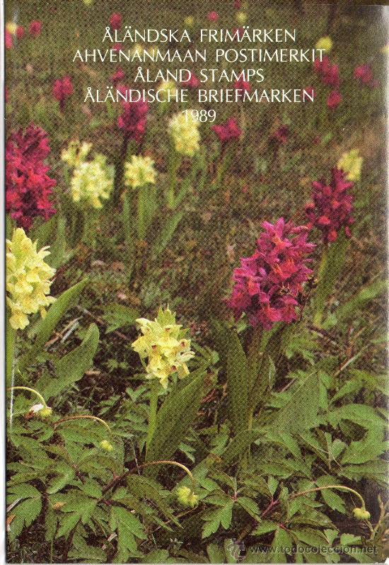 ALAND FINLANDIA AÑO 1989 COMPLETO EN CARPETA OFICIAL YV 32/37*** (VER FOTOS) (Sellos - Extranjero - Europa - Finlandia)