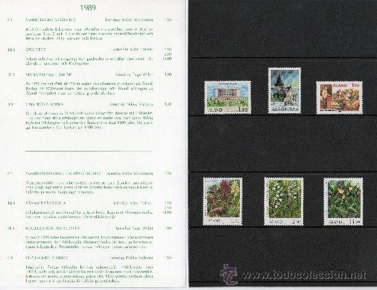 Sellos: ALAND FINLANDIA AÑO 1989 COMPLETO EN CARPETA OFICIAL YV 32/37*** (VER FOTOS) - Foto 2 - 27522360