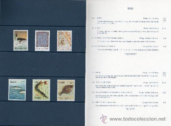 Sellos: ALAND FINLANDIA AÑO 1990 Mi 38/43*** COMPLETO EN CARPETA OFICIAL (VER FOTOS) - Foto 2 - 27522361