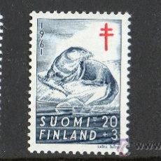 Sellos: FINLANDIA AÑO 1961 YV 512/14* ANTI TUBERCULOSIS - FAUNA - ANIMALES - NATURALEZA. Lote 27099543