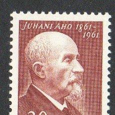 Sellos: FINLANDIA AÑO 1961 YV 515* JUHANI AHO - PERSONAJES - LITERATURA. Lote 15696550