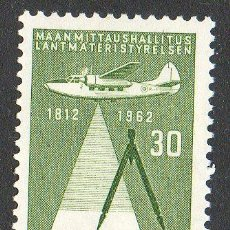 Sellos: FINLANDIA AÑO 1962 YV 531* 150 ANVº DE LA CARTOGRAFÍA DEL PAÍS - AVIONES - CIÉNCIA Y TÉCNICA. Lote 15697450