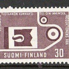 Sellos: FINLANDIA AÑO 1962 YV 530* FABRICACIÓN Y PRODUCCIÓN NACIONAL - IMPRENTA - CIÉNCIA Y TÉCNICA. Lote 15697588