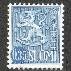 Sellos: FINLANDIA AÑO 1963 YV 539* ESCUDO DE ARMAS - HERÁLDICA - LEÓN. Lote 15697921