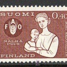 Sellos: FINLANDIA AÑO 1963 YV 550* CAMPAÑA MUNDIAL CONTRA EL HAMBRE - FAO - ALIMENTACIÓN - NIÑOS. Lote 15698163