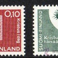 Sellos: FINLANDIA AÑO 1963 YV 554/55* CONFERENCIA LUTERANA - RELIGIÓN - ARTESANÍA - ESCULTURA - ARTE. Lote 15698459