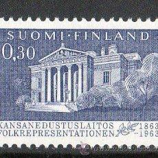 Sellos: FINLANDIA AÑO 1963 YV 557* CENTENARIO DEL PARLAMENTO FINÉS - ARQUITECTURA. Lote 15698502