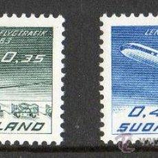 Sellos: FINLANDIA AÑO 1963 YV A 10/11* 40 ANVº DE LA COMPAÑIA AÉREA FINNAIR - AVIONES - TRANSPORTES. Lote 15698654