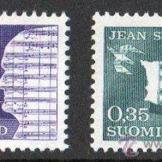 Sellos: FINLANDIA AÑO 1965 YV 575/76* CENTº DEL NACIMIENTO DE JEAN SIBELIUS - MÚSICA - PERSONAJES. Lote 15699150