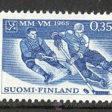 Sellos: FINLANDIA AÑO 1965 YV 566* HOCKEY SOBRE HIELO - DEPORTES. Lote 15699187